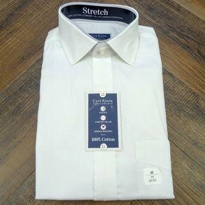 Club Room Stretch Button Down Long Sleeve M NWT